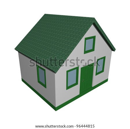 Illustration of a 3D green house