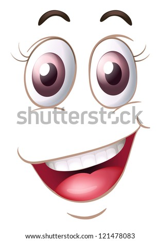 illustration of a face on a white background