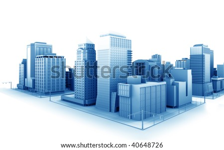 Illustration of a fictional city