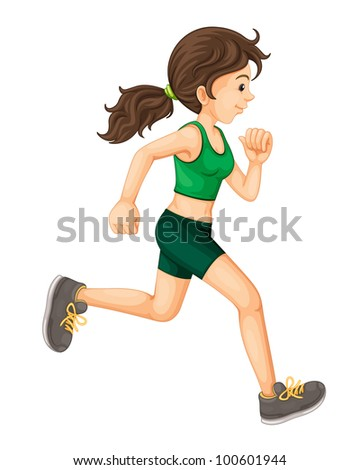 Illustration of a fit woman - EPS VECTOR format also available in my portfolio. - stock photo