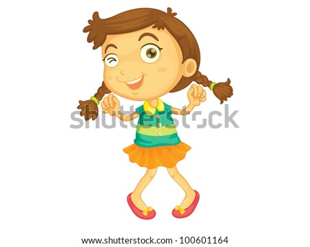 Illustration of a girl dancing - EPS VECTOR format also available in my portfolio.