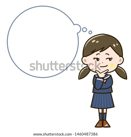 Illustration of a girl imagining a trick