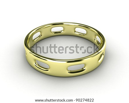 Illustration of a gold ring with hole in it