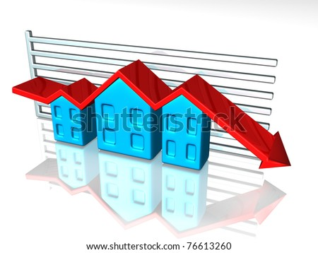 Illustration of a graph depicting house prices
