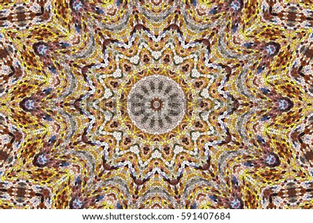 Illustration of a kaleidoscope, Colorful mosaic texture, mosaic ...