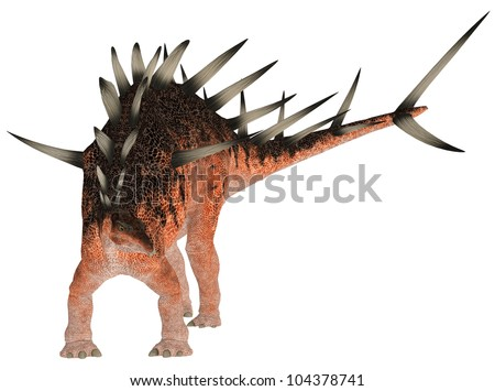 Illustration of a Kentrosaurus (dinosaur species) isolated on a white background