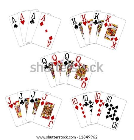 illustration 4 of a kind - high cards