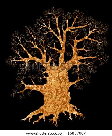 Illustration of a leafless tree - stock photo