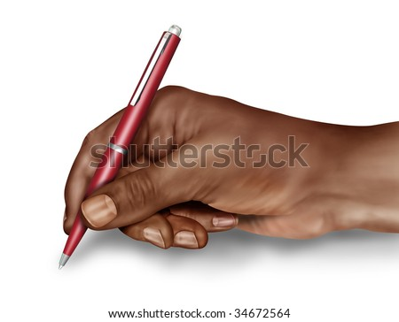 Illustration of a man about to sign a document