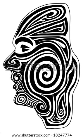 Tatto Maori on Illustration Of A Maori Moko  Tattoo    18247774   Shutterstock