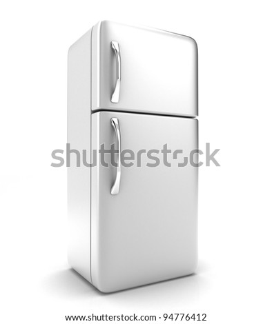 Illustration of a new fridge on a white background
