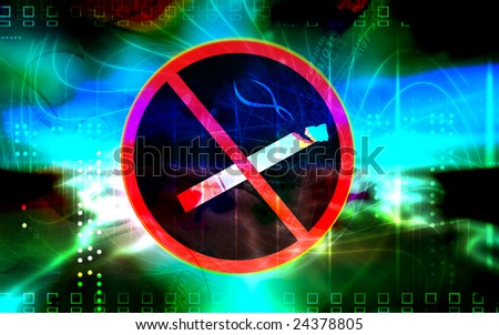 Illustration of a no smoking logo