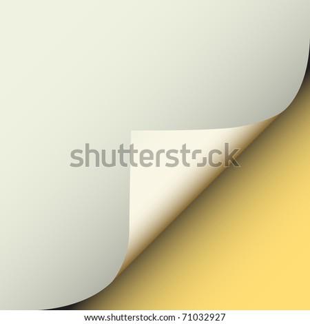 Illustration of a peeling corner of gray paper