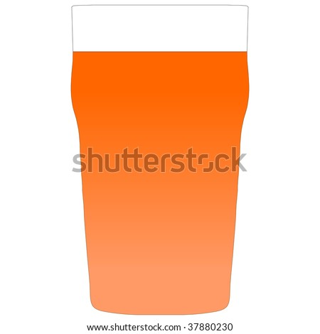 Illustration of a pint of bitter beer