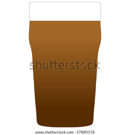 Illustration of a pint of stout beer