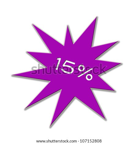 Illustration of a price tag with figure and percent