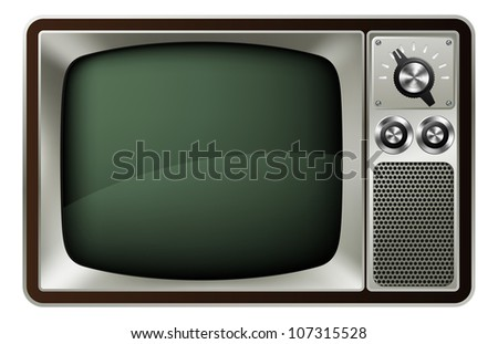 Illustration of a retro style old fashioned television
