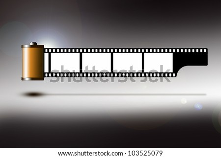 Illustration of a roll of 35mm film strip