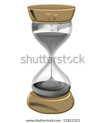 illustration of a sandglass – hourglass