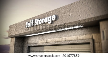 illustration of a self storage unit - stock photo