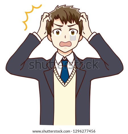 Illustration of a shocked boy