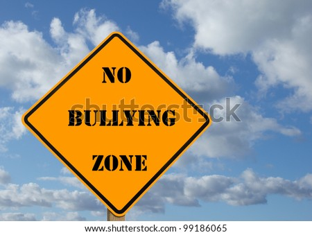 illustration of a sign stating no bullying zone