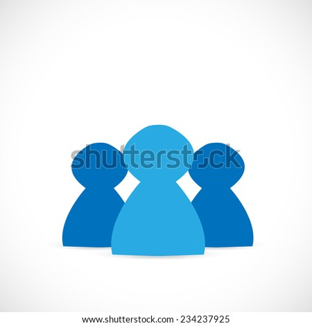 Illustration of a silhouette of abstract people isolated on a white background.