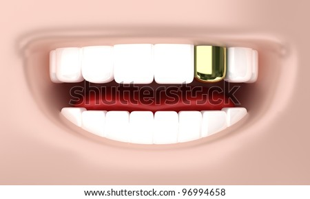 Illustration of a smile of the person with white teeth