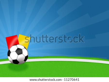 Illustration of a soccer ball for sports events