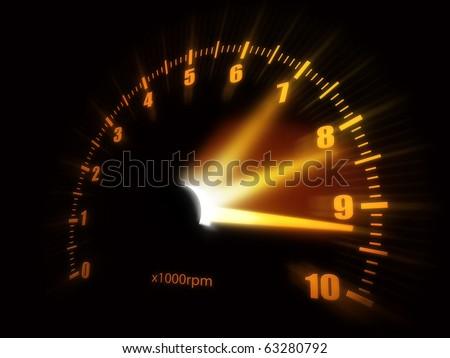 Illustration of a speedometer. ストックフォト ©