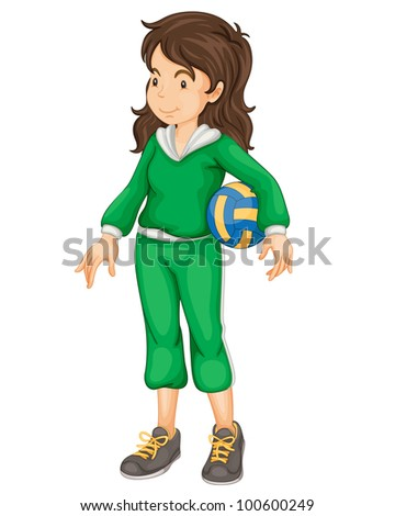 Illustration of a sports girl on white - EPS VECTOR format also available in my portfolio.