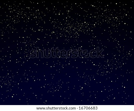 Illustration of a starry sky