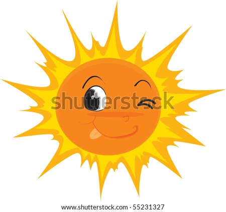 Illustration of a sun on white background