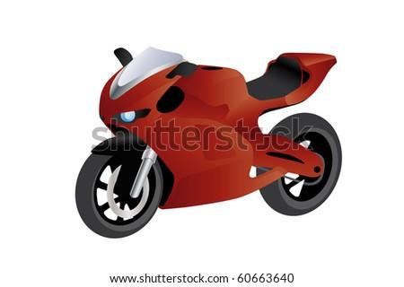 illustration of a super sport bike