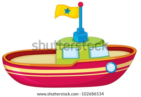 Illustration of a toy boat on white - EPS VECTOR format also available in my portfolio.