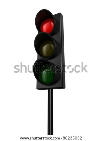 Illustration of a traffic light with red colour