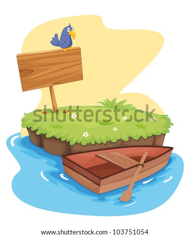 Illustration of a tropical island - EPS VECTOR format also available in my portfolio.