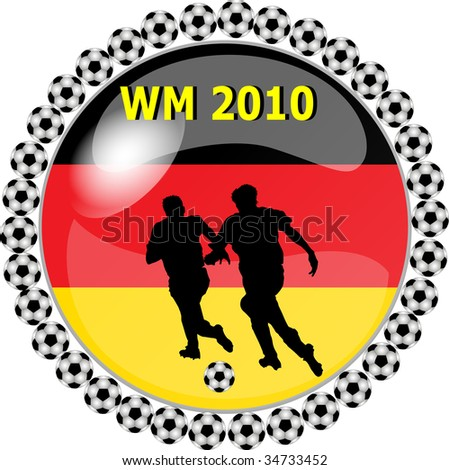 illustration of a world championship button germany