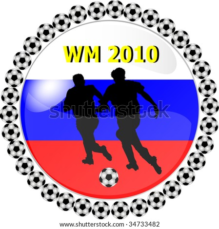 illustration of a world championship button russia