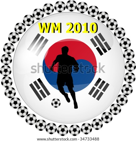 illustration of a world championship button south korea