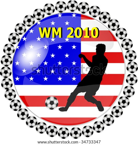 illustration of a world championship button usa