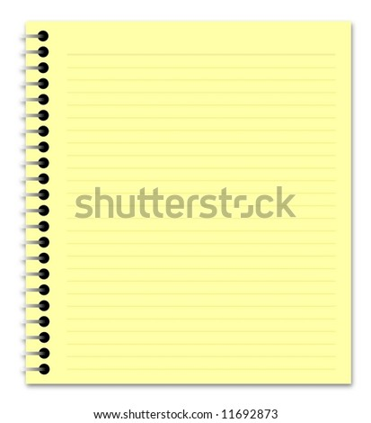 Illustration of a yellow notepad