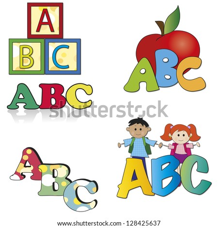 illustration of abc for school