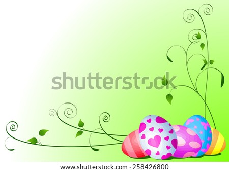 Illustration of abstract Easter background