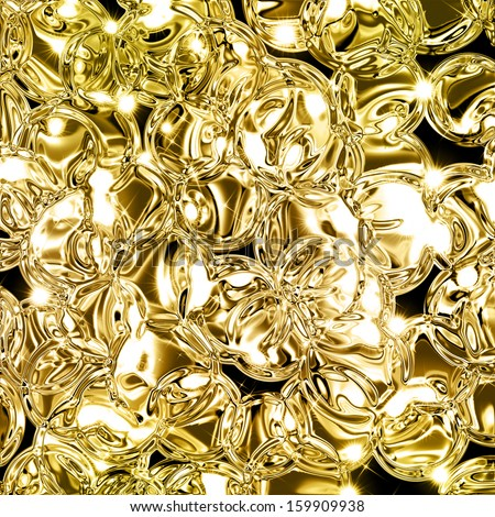 Illustration Of Abstract Gold Background With Copy Space. Gold Glitter Background. Gold Glittering Texture. Hi-Res Golden Grunge Background. Metal Plate Texture