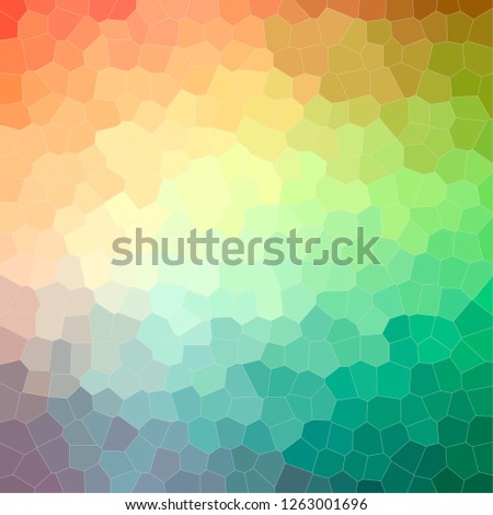 Illustration of abstract Green, Blue And Orange Little Hexagon Square background.