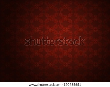 Illustration of abstract grunge red wallpaper pattern background.