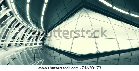 illustration of abstract interior lit by mystery light