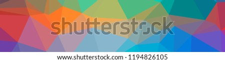 Illustration of abstract low poly blue banner background. - Shutterstock ID 1194826105