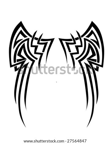 tribal designs wings. wings tribal design